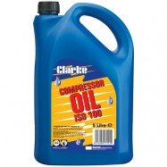CLARKE SAE30 ISO 100  PISTON AIR COMPRESSOR OIL (BLUE LINE COMPRESSORS) 5 LITRES